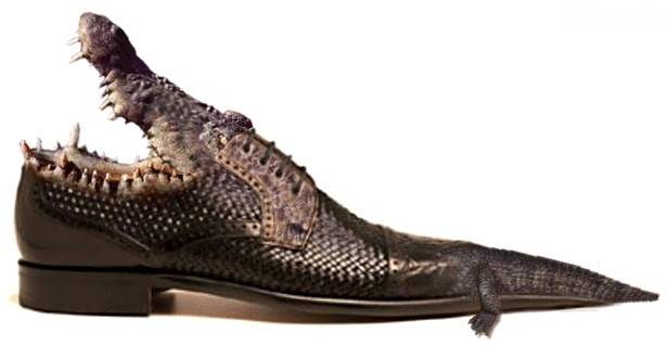 Lime Green Alligator Shoe - Costume Shoes