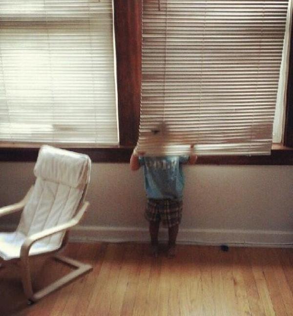 Kids play hide-and-seek