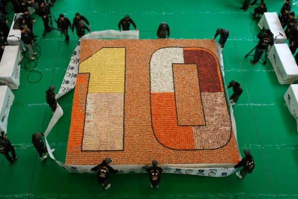 World's largest sushi mosaic