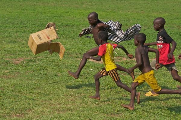 Childern playing around the world