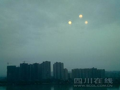 Triple Sun Over China